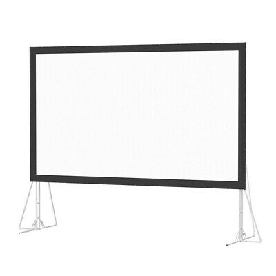 "150"" fast fold projection screen (3m x 2m) with front surface & flight case new!"