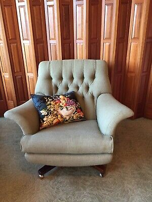 G Plan Tilt And Swivel Rosewood Armchair-Mid Century Classic