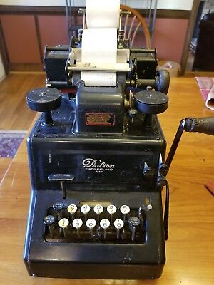 Antique  Vintage 1900'S Dalton Adding Machine Great working condition