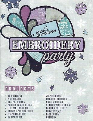Anita Goodesign Embroidery Party Inlcudes Book And Cd