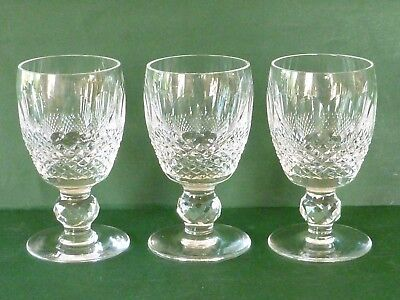 """Waterford Crystal Cut Stem Glasses - 3 Port Wine/Sherry - Colleen - 3oz 3 7/8"""""""