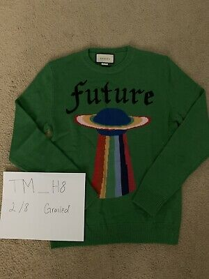 c99ffcb1 100% AUTHENTIC GUCCI Bee Jacquard Wool Sweater Size: M - $539.00 ...