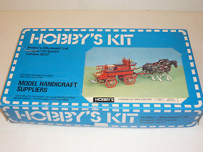 VINTAGE 1981 HOBBY'S CRAFT KIT OF A CHEMICAL FIRE ENGINE  Bausatz Feuerwehr 1563