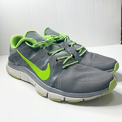 ade43fc19c1a Nike Free Trainer 5.0 Mens Size 13 Grey Green Running Training Shoes 511018  031