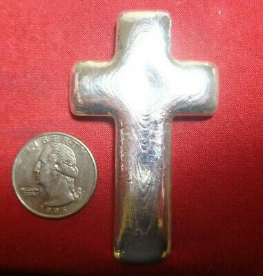 3 Troy ounce .999 Silver. Hand Poured Cross design ingot   MFS