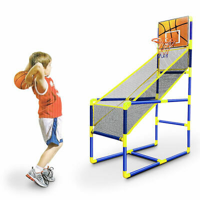 Portable Kids Basketball Ball Net Set Stand Toys Indoor Outdoor Sports Hoop Hat