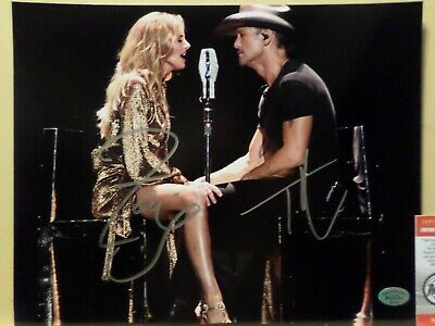 Country Singers Faith Hill & Tim Mcgraw Autographed 8 X 10 Photo With Coa!!!
