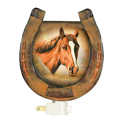 Rivers Edge 1311 Hand Painted Western Horse Night Light With Sensor