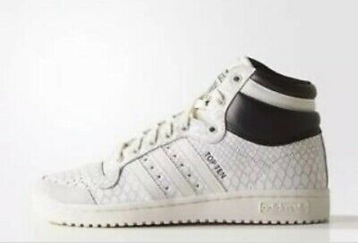 Adidas Shoe Top Ten Textured Womens Black White Lace Up High Top Size 8.5 US d9156515e