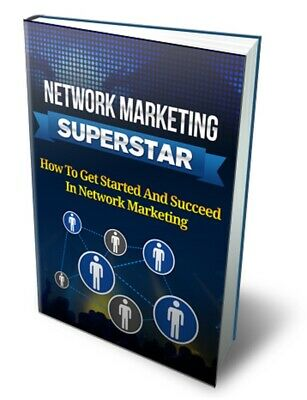 Network Marketing Superstar eBook PDF CD/DVD Master Resell Rights Free Shipping