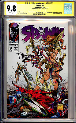 Spawn #9 CGC SS 9.8 Signed by Todd McFarlane!! 1st app of Angela!!.. (1st Print)