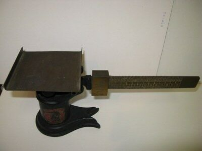 Antique, Vintage Weis Mfg. Monro, MI. US Postal Scale Cast Iron & Brass