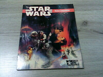 Star Wars RPG The Star Wars Rules Companion West End Games 1989 d6