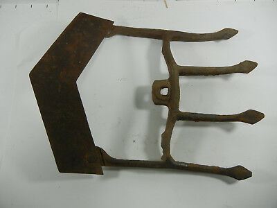 Vtg Antique Farm Garden Tool 4 Prong Tine / CULTIVATOR Iron Hand Plow G889