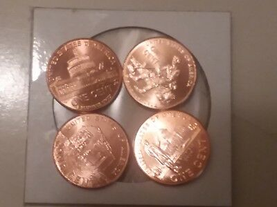 2009 D US Lincoln Bicentennial Pennies, Uncirculated in Gem Mint Condition
