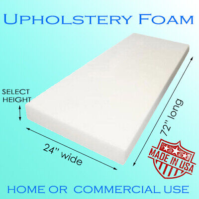 High Density Firm Upholstery Foam, Cushion or Seat Replacement - Multiple Sizes