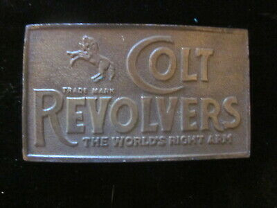Vintage Colt Revolvers The World's Right Arm Belt Buckle Firearms Gun Pistol old