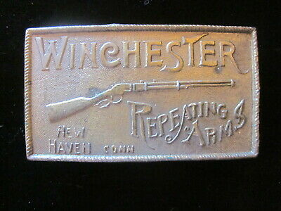 Vintage Winchester Repeating Arms Rifle guns Belt Buckle Firearms Gun Pistol old