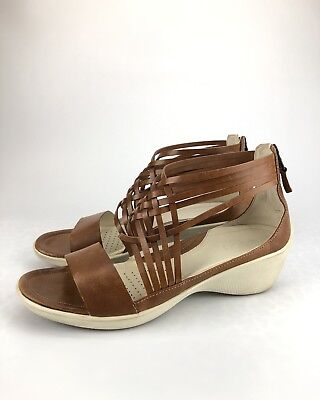 best cheap 099b3 38dc2 ECCO-Brown-Weaved-Leather-Gladiator-Sandals-Womens-Size.jpg