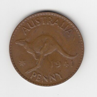 1941M Australia Kgvi Penny - Very Nice Collectable Coin