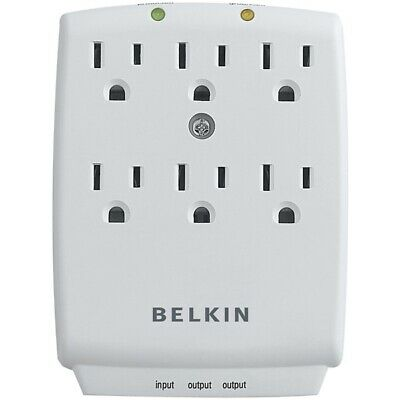 6-Outlet Wall-Mount Surge Protector Belkin F9H620-CW
