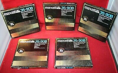 MAXELL UDXL 35-90B RECORDING TAPE 7 inch 1800 Good Used Cond Listing Is One Tape