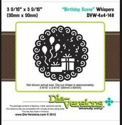 Die-versions - Birthday Scene metal die - for use in most cutting systems