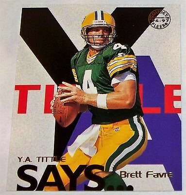 1997 Brett Favre Fleer Goudey Y.A. Tittle Says...Card FREE SHIPPING