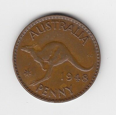 1948M Australia Kgvi Penny - Nice Collectable Vintage Coin