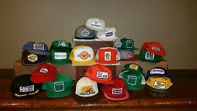 d3ab473df65 (23) Vintage  Patch Adjustable Snapback Cap Hat Trucker Farmer Hipster NICE  LOT