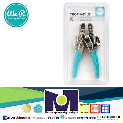 We R Memory Keepers Crop-A-Dile Eyelet and Snap Punch, Blue Handle 70907-7