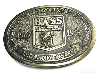 Bass Anglers Sportsman Society 25th Anniversary Fishing Belt Buckle B.A.S.S A5-P