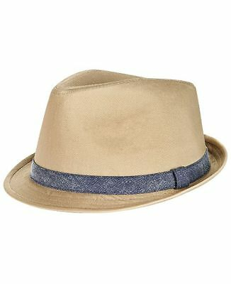 175 Levi s Men s Beige Blue Cotton Fedora Fitted Denim Band Hat Size L xl f6040fdc9ac6