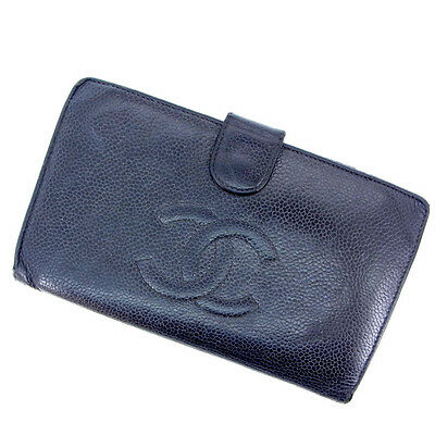 9a24c53a3daa Chanel Wallet Purse Coin purse COCO Black Woman Authentic Used F594