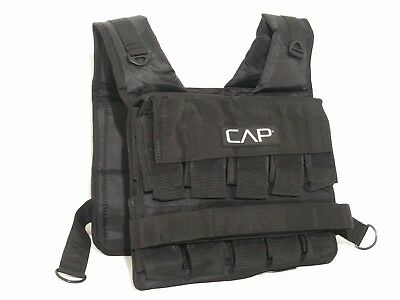 CAP Barbell Short Adjustable Weighted Vest NEW, 50 lb VEST ONLY - No Weights