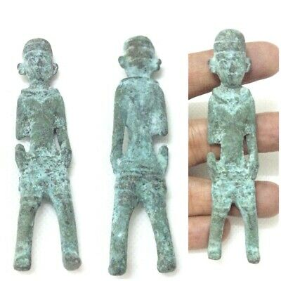 Rare Antique Ancient sasanian Bronze Statue of Human Soldier Circa 250 BC