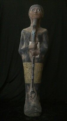 ANCIENT EGYPTIAN ANTIQUES EGYPT Statue Large Ushabti God Ptah Stone 300-1500 BC