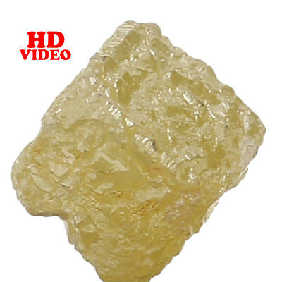 Natural Loose Diamond Rough Cube I3 Clarity Yellow Color 4.30 MM 0.97 Ct L4419