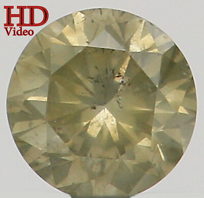 Natural Loose Diamond Round SI2 Clarity Fancy Yellow Color 2.70MM 0.077 Ct L6199