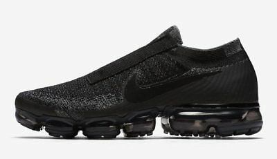 Nike Air VaporMax Laceless Triple Black Men's Size 10 Like CDG Comme Des Garcons