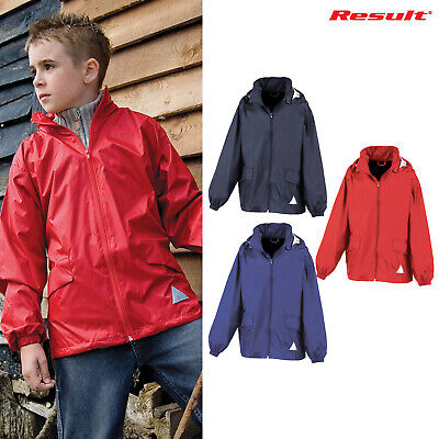 Result Junior Windcheater In a Bag R092J -Childrens Waterproof Jacket Nylon Coat