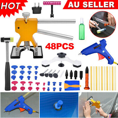 48 PDR Paintless Dent Puller Car Board Repair Tools Lifter Hail Removal Glue Gun