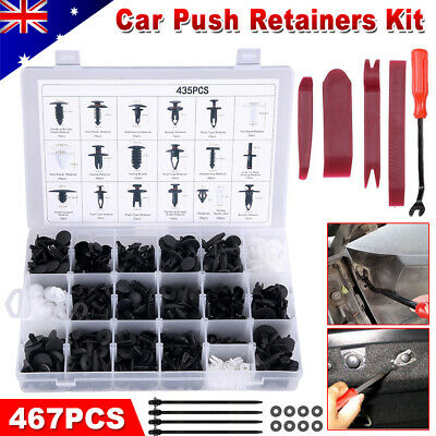 Plastic Car Trim Body 467PCS Clips Kit Rivet Retainer Door Panel Bumper Fastener