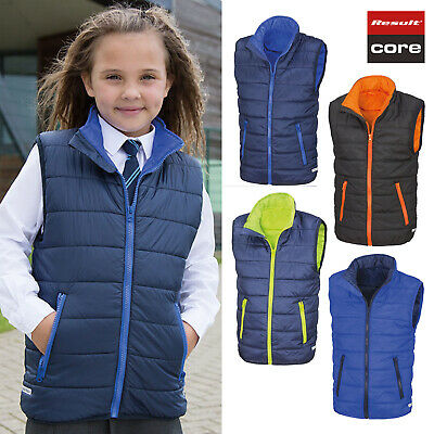 Result Core Junior Kids Bodywarmer Gliet R234J-Y - Childrens Wear Half Jacket