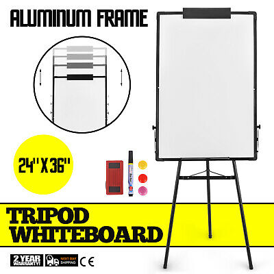 Tripod School Mobile Whiteboard On Wheels with Stand 60*90 White Board Magnetic