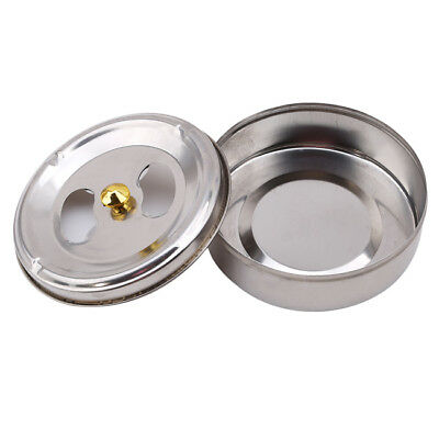 Cigar Cigarette Ashtray Barrel Stainless Steel Lid Rotation Closed Ash Tray OO