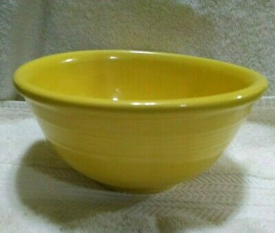 Vintage 1930's Pacific Pottery Yellow #24R Mixing / Serving Bowl