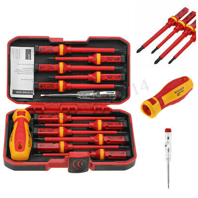 9pcs//set 1000V Power Electricians Insulated Electrical Hand Screwdriver Kit