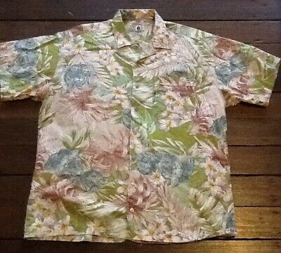 Mens Jungle Print Hawaiian Shirt, Extra Large, Vintage Retro