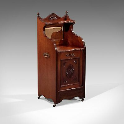 Antique Coal Purdonium, Fire Side Log Bin, English, Edwardian, Walnut Circa 1910